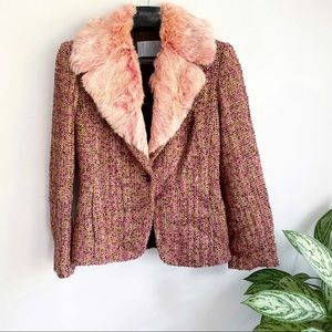 Missoni Tweed Fit Collar Fitted Cropped Jacket
